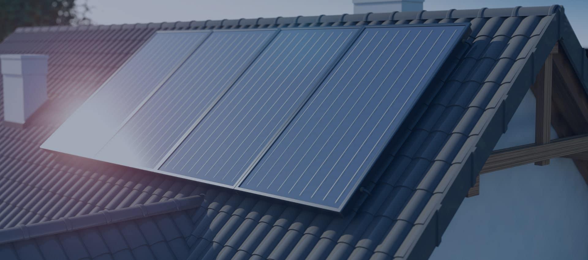Closeup of Residential Solar Panels